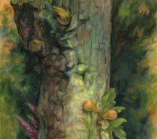 Pear tree oil painting