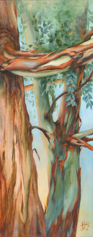 Eucalyptus Euphoria - Oil on wood - 20 x 20 cm